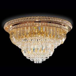 Stropní světlo Cristalli, 60cm ve zlaté