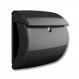 Poštovní schránka Kiel z plastu, černá