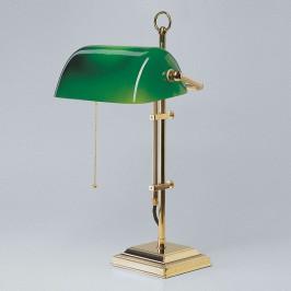 Bankéřská lampa GITA z leštěné mosazi