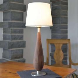 HerzBlut Lara stolní lampa ořechové dřevo, 61cm
