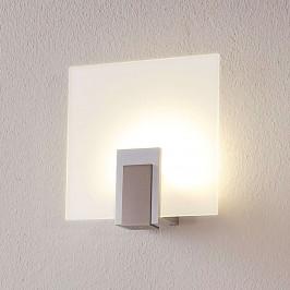 Skleněné nástěnné světlo Sara sLED avypínačem