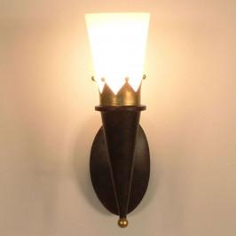 Rustikální nástěnné světlo CORONA zlaté zdobení