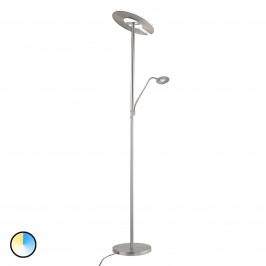 Stmívatelná stojací lampa Dent se čtecím světlem