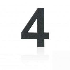 Heibi Nerezová domovní čísla číslice 4, grafit šedý