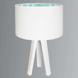 Moderní stolní lampa Tiana dřevěná základna