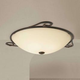 Venkovské stropní světlo Luca kulaté, 60 cm