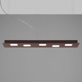 Fabbian Quarter - hnědé závěsné světlo LED 5zdr
