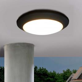 Černé venkovní stropní LED svítidlo Berta11W 3000K