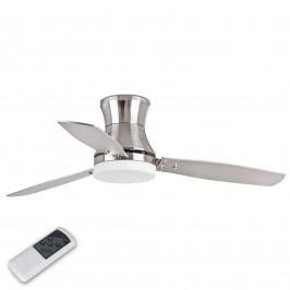 TONSAY stropní ventilátor z niklu s osvětlením
