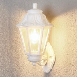 Bílé venkovní LED svítidlo Bisso Anna, E27, horní