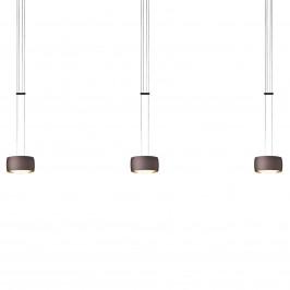 OLIGO Grace závěsné světlo LED 3zdr hnědé