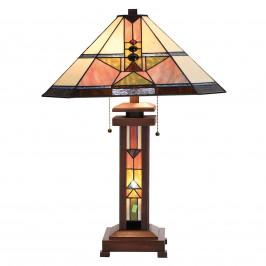 Stolní lampa Leondra v Tiffany stylu