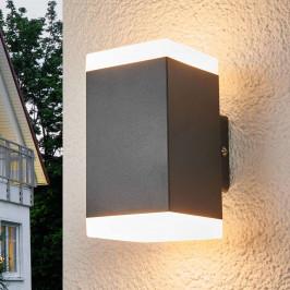 Hedda hranaté LED venkovní nástěnné svítidlo