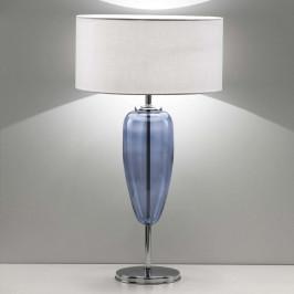 Stolní lampa Show Ogiva 82 cm modrý skleněný prvek
