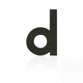 Nerezová domovní čísla písmeno d, hnědá mocca