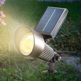 Černý solární LED reflektor Spotlight s funkcí RGB