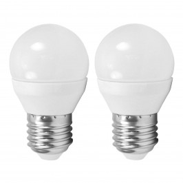 LED žárovka E27 G45 4W MiniGlobe, 4 000 K 2ks