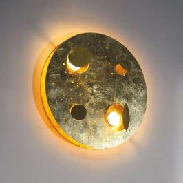 Knikerboker Buchi LED nástěnné světlo Ø 40cm pozl