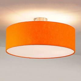 Stropní světlo Gala, 50cm, stínidlo plsť oranžové