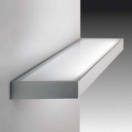 Dekorativní skleněné regálové světlo nerez 120 cm