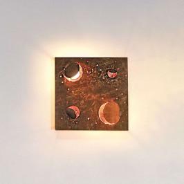 Knikerboker Buchi nástěnné světlo 32x32cm měď list