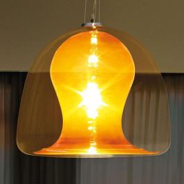 Závěsné světlo Naranza, křišťál, Ø 57 cm oranž