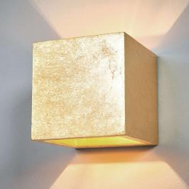 Krychlové nástěnné svítidlo Yade, pozlacené