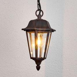 Venkovní závěsné svítidlo Lamina ve tvaru lucerny