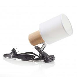 Moderní svítilna s klipem Clampspots bílé stínidlo