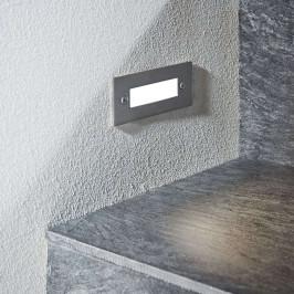 LED nástěnné vestavné svítidlo Roni, nerez 12 cm