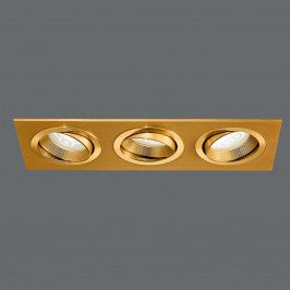 LED podhledové svítidlo MINAR s 3 žárovkami, mosaz