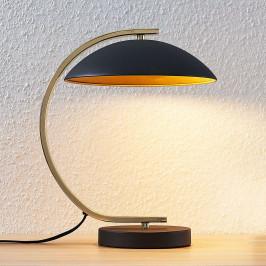 Kovové stolní svítidlo Adriana, černé/zlaté