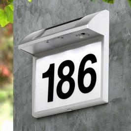 Solární svítidlo Regi s číslem domu