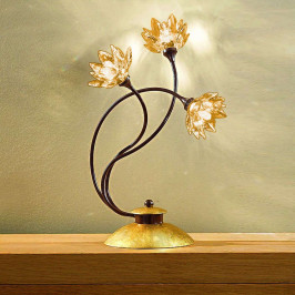 Stolní lampa Fiorella jantarová