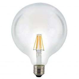 E27 7,5W 827 LED žárovka Globe čirá