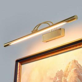 LED obrazové svítidlo Piktura, mosaz leštěná