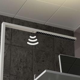 Bílá LED stojací lampa Jolinda, snímač