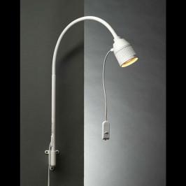 LED lampa na čtení s ramenem a červeným světlem
