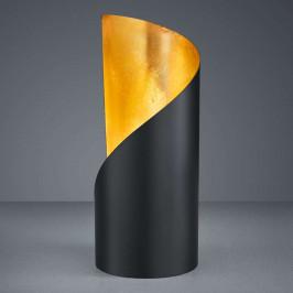Stolní lampa Frank - černá a zlatá