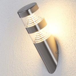 LED nerez venkovní nástěnné svítidlo Lanea šikmé