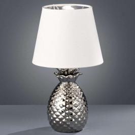 Keramická stolní lampa Pineapple, stříbrná
