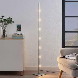 LED stojací lampa Margeau v niklu, stmívatelná