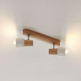 Dřevěné stropní světlo Svantje, 2zdrojové