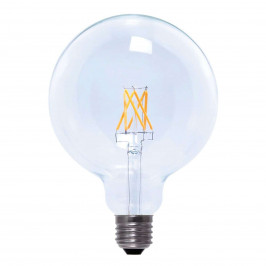 E27 6W 926 LED žárovka Globe FIlament G125 čirá