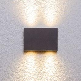 Hranaté venkovní nástěnné svítidlo Henor se 4 LED