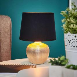 Černo-zlatá stolní lampa Thorina