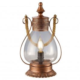 Stolní lampa Linda starož. nádech, měděná barva