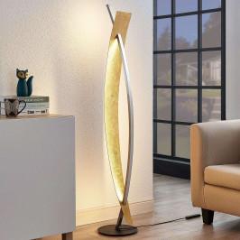 LED stojací lampa Marija v černé barvě