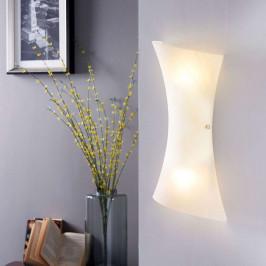Bílé skleněné LED nástěnné světlo Ebba