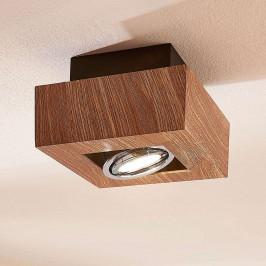 LED stropní světlo Vince, 14x14cm ve vzhledu dřeva
